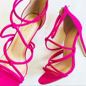 c51c32605427 Glaze Shoes - Hot Pink Strappy Heels